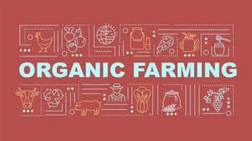 bannière de concepts de mot agriculture biologique