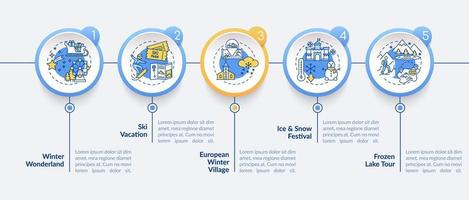 modèle d'infographie escapade d'hiver