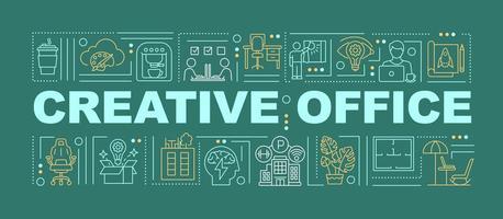 bannière de concepts de mot de bureau créatif