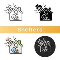 icône de refuge pour femmes