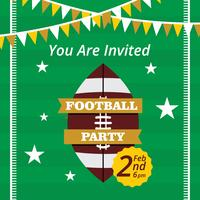 Invitation de vecteur de fête de football