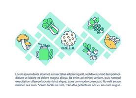 icône de concept de produits biologiques avec texte