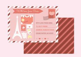 Carte postale de vecteur de Paris