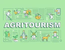 bannière de concepts de mot agrotourisme