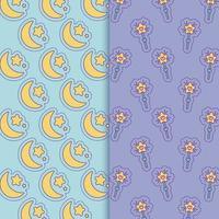 lunes et étoiles bâtons conception de vecteur de fond