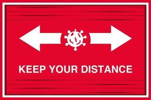 veuillez pratiquer la distanciation sociale, maintenir la distance sociale pour arrêter le coronavirus, bannière vecteur