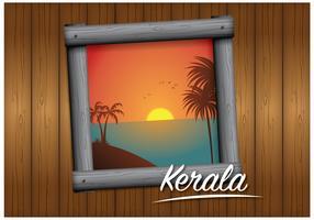 Vecteur de paysage du Kerala