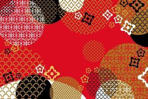 modèle de bannière de voeux de nouvel an chinois abstrait de vecteur