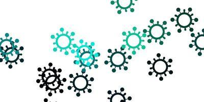 texture vecteur vert clair avec des symboles de la maladie.