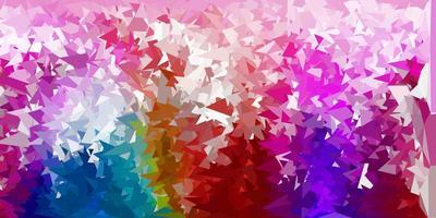 fond de triangle abstrait vecteur multicolore sombre.