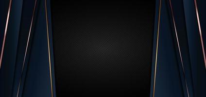 modèle web bannière abstraite fond premium luxe bleu foncé vecteur