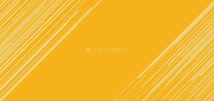 modèle de bannière web abstrait motif de lignes de vitesse diagonale jaune clair sur fond jaune et texture. vecteur