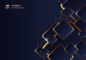 motif carré doré géométrique futuriste abstrait vecteur