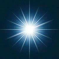 starlight brillant flare avec des rayons sur fond dégradé bleu foncé et texture de motif chevron. vecteur