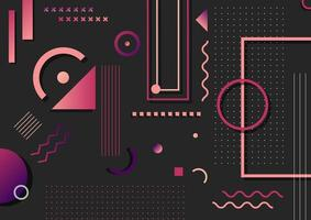 motif abstrait d'éléments de forme géométrique rose et violet à la mode vecteur