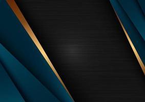 modèle abstrait premium de luxe bleu foncé sur fond noir vecteur