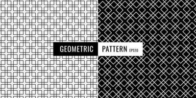 Abstrait motif de bordure carrée géométrique noir et blanc.