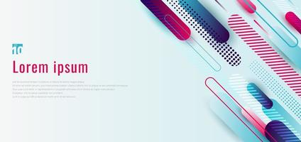 modèle de conception de bannière web en bleu et rose dynamique vecteur