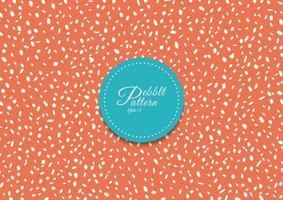 motif abstrait de galets blancs simples sur fond orange et texture. vecteur