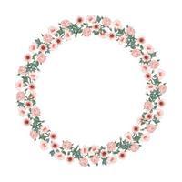 belle arche de roses et de tulipes rouges. arrangement de fleurs vecteur