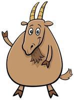 Personnage de bande dessinée drôle de chèvre ferme animal vecteur