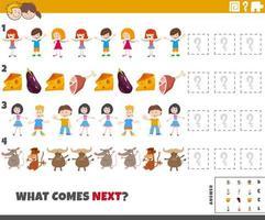 tâche de modèle éducatif pour les enfants d'âge préscolaire et élémentaire vecteur