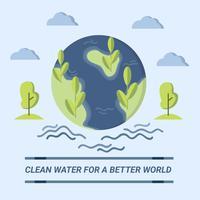 Eau propre pour un meilleur vecteur de conception de monde