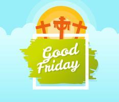 Carte de voeux de conception de bon vendredi
