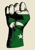 esprit dune nation pakistan conception de poing