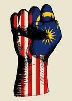 esprit d'une nation malaisie conception de poing