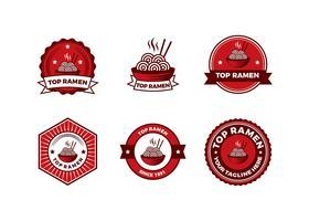 Vecteur de Badge Ramen