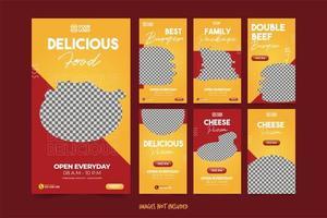 bannière de restauration rapide pour ensemble de modèles de publicité sur les médias sociaux
