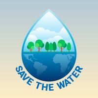Illustration de la journée mondiale de l'eau vecteur