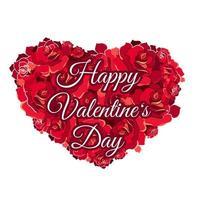 modèle de carte de voeux joyeux saint valentin vecteur