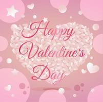 conception de couleur de carte de voeux joyeux saint valentin vecteur