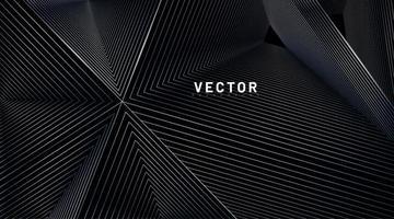 illusion de fond abstrait de lignes triangulaires vecteur