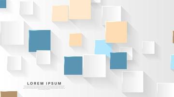 Fond de papier carré pastel 3d