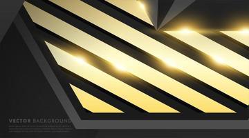 fond géométrique en or noir vecteur