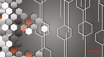 fond abstrait vectoriel d'un mur géométrique hexagonal