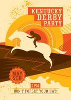 Derby kentucky vecteur