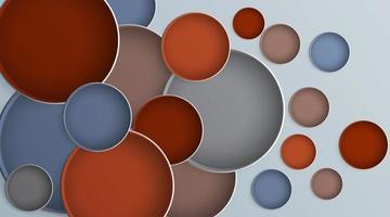 abstrait cercle de conception réaliste qui se chevauchent. illustration vectorielle de conception vecteur