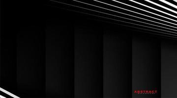 vecteur abstrait géométrique. superposant des rayures blanches avec un fond dégradé gris. nouvelle texture pour votre conception.