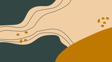 composition de fond de conception de modèle abstrait de formes organiques minimales dans un style de collage contemporain branché. illustration vectorielle