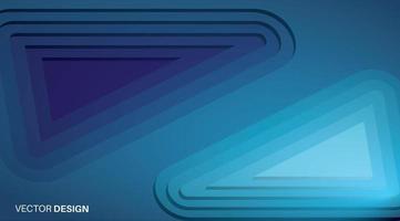 fond de vecteur abstrait. conception de triangle bleu qui se chevauchent