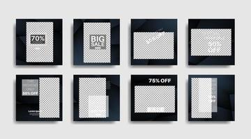 bannière web carrée de promotion moderne pour illustration de conception de vecteur de médias sociaux