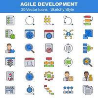 icônes de développement agile sommaires