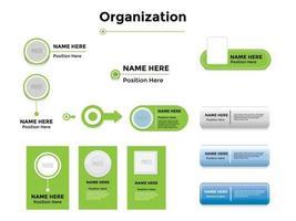 Organigramme partie sur le vecteur graphique illustration