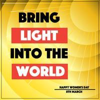 Apportez la lumière dans le vecteur du monde
