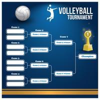 Support de tournoi de volleyball vecteur
