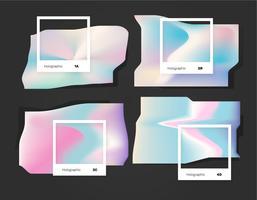 Lumière abstraite holographique couleur Pantone vecteur